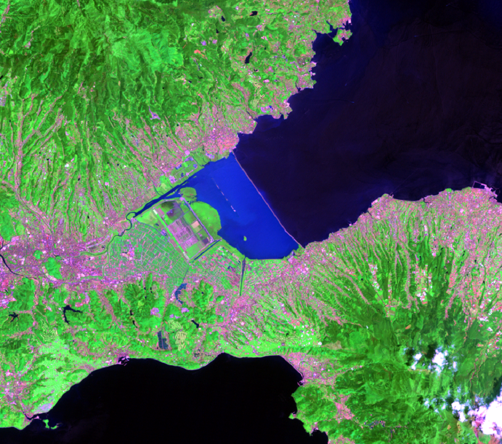 May 3, 2003, Landsat 7 (path/row 113/37) — Isahaya Bay, Japan