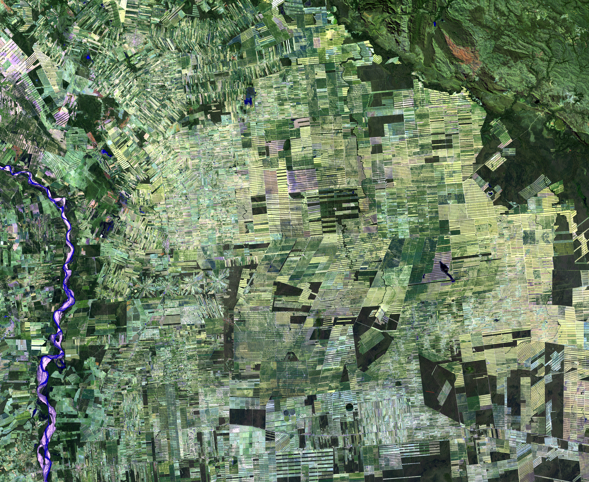 July 29, 2010, Landsat 5 (path/row 230/72) — Deforestation, Santa Cruz, Bolivia