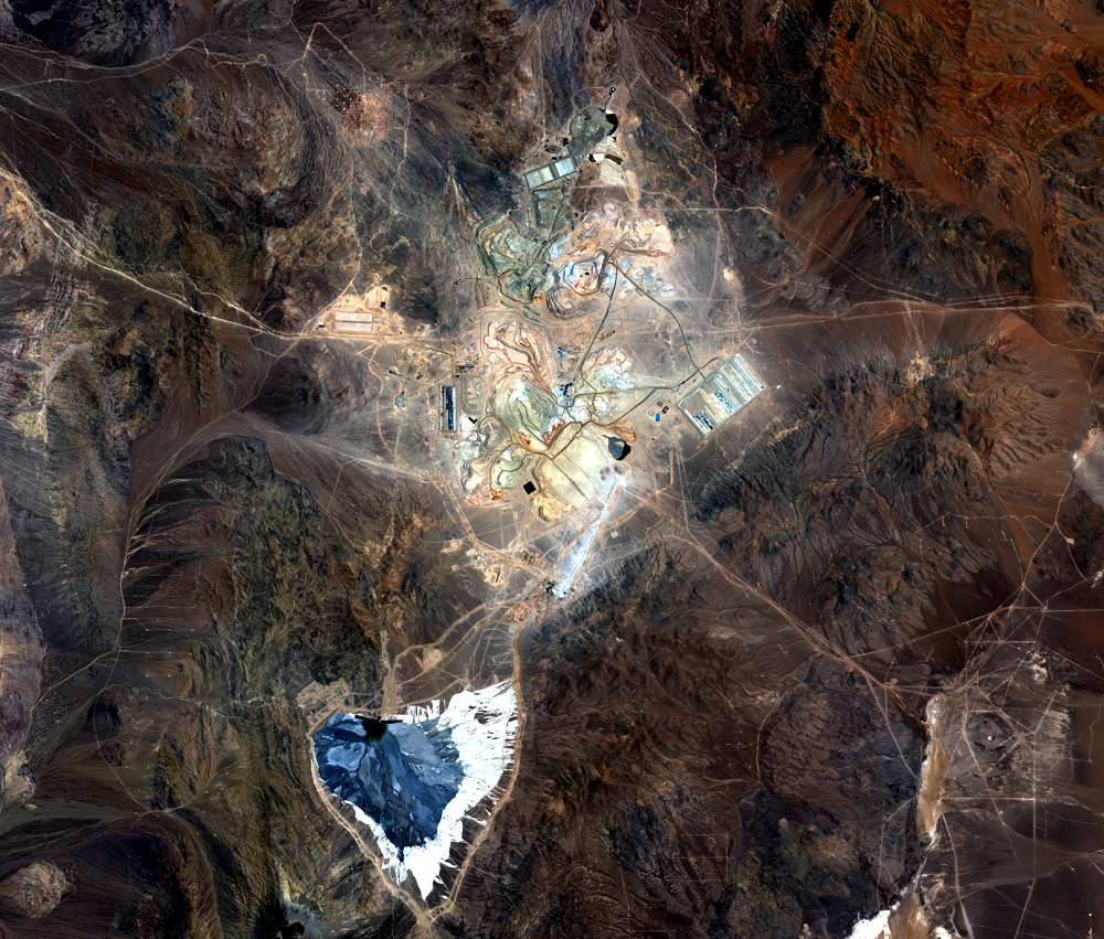 Nov. 6, 2013, Landsat 8 (path/row 233/77) — Escondida Mine, Chile