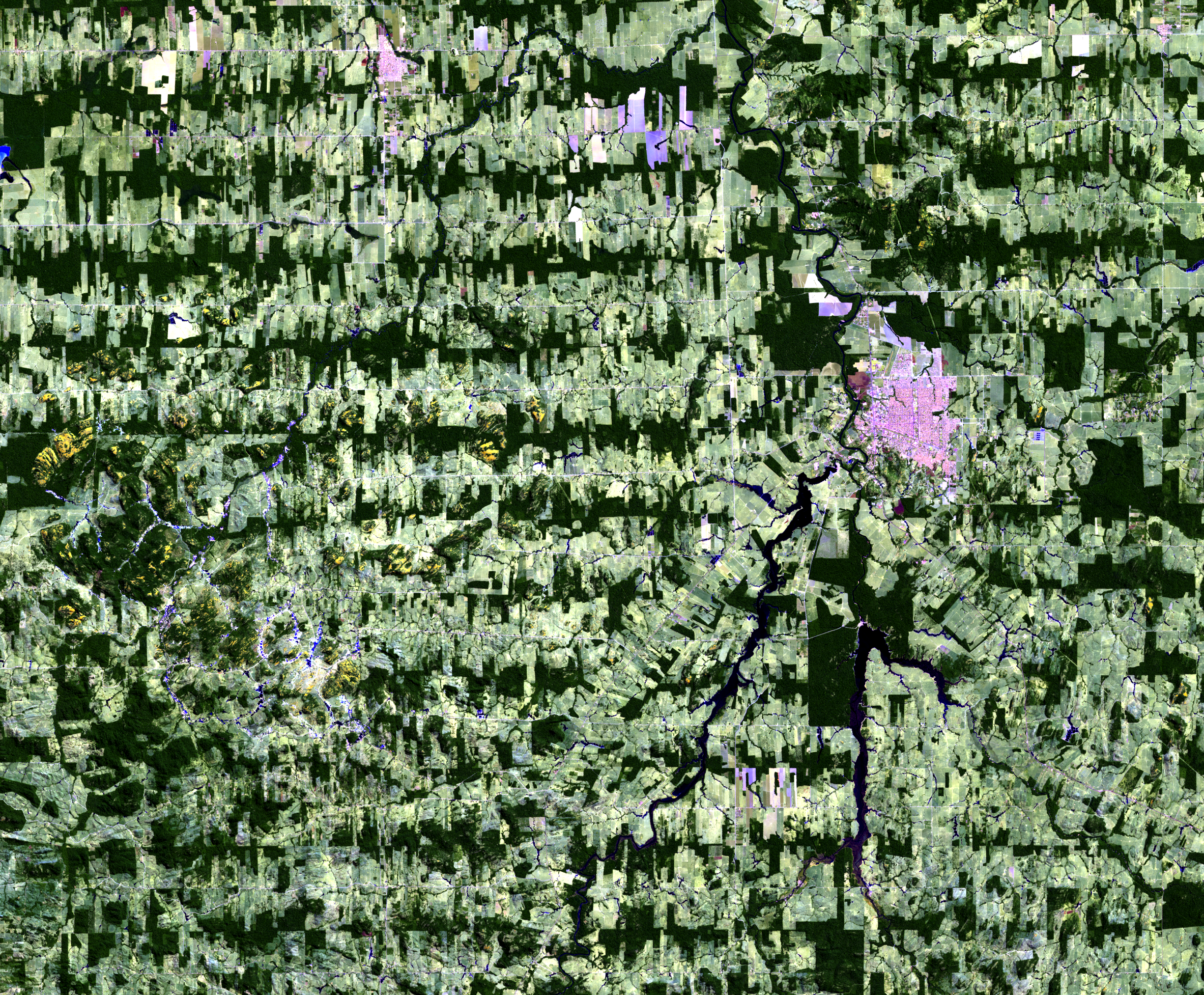 July 18, 2016, Landsat 8 (path/row 232/67) — Ariquemes, Brazil