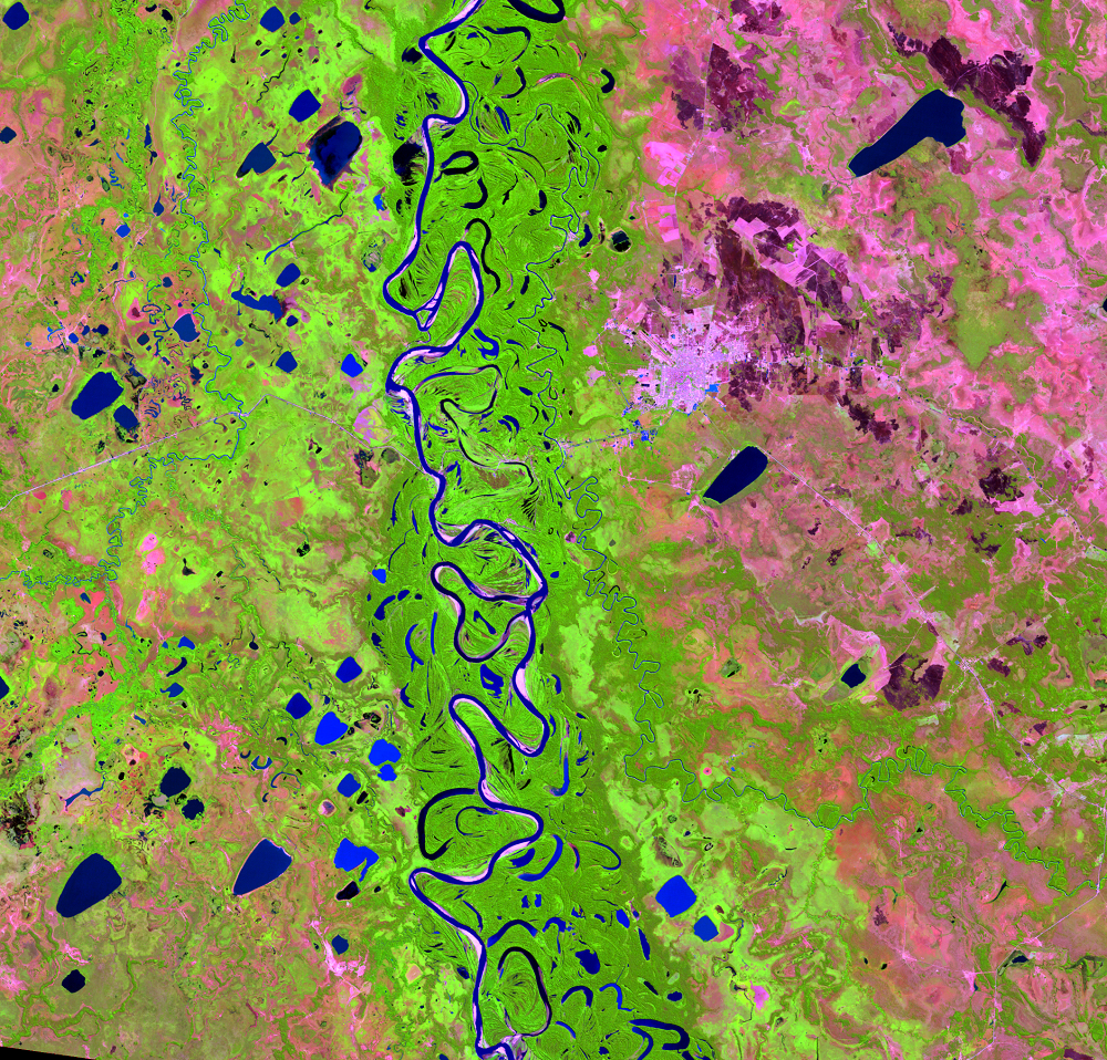 July 2, 2010, Landsat 5 (path/row 232/70) — Mamoré River, Bolivia