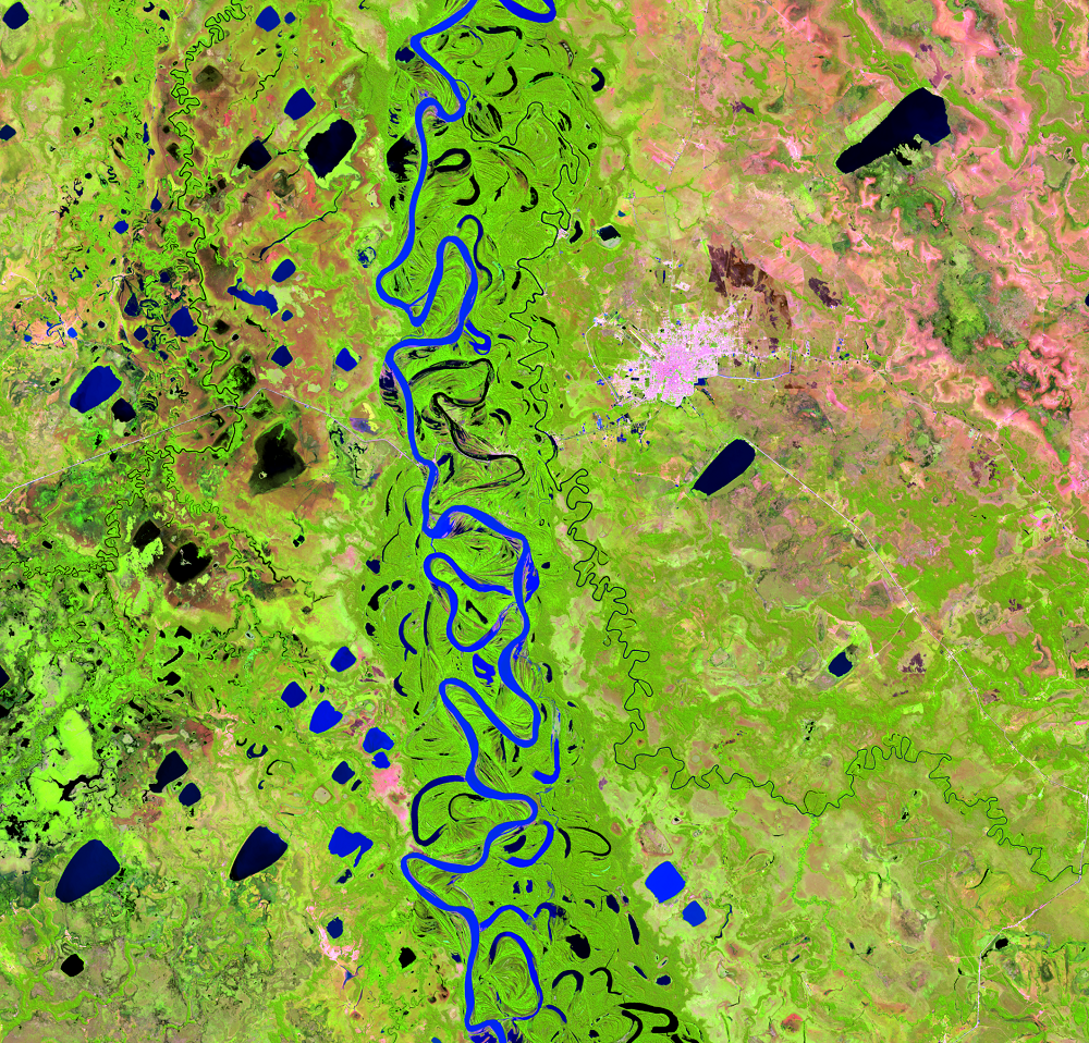 Aug. 1, 2015, Landsat 8 (path/row 232/70) — Mamoré River, Bolivia