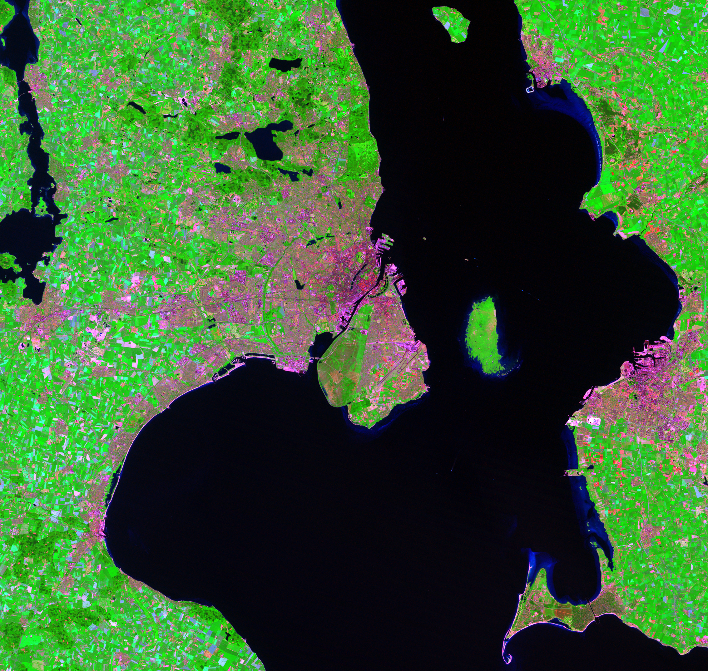 July 12, 1994, Landsat 5 (path/row 194/21) — Copenhagen, Denmark