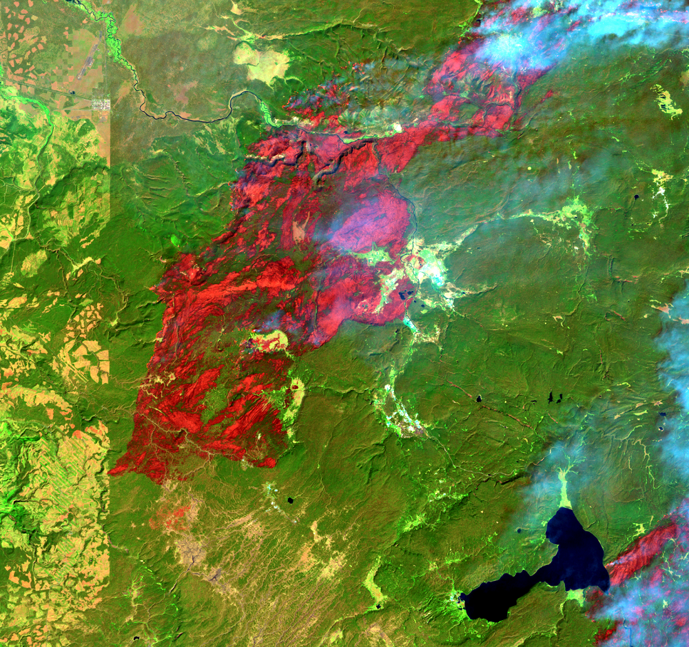 Aug. 23, 1988, Landsat 5 (path/row 38/29) — Location of Old Faithful at Yellowstone National Park, USA