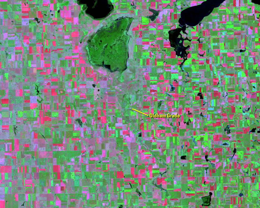 Aug. 29, 1984, Landsat 5 (path/row 29/29) — Lake Thompson, South Dakota, USA