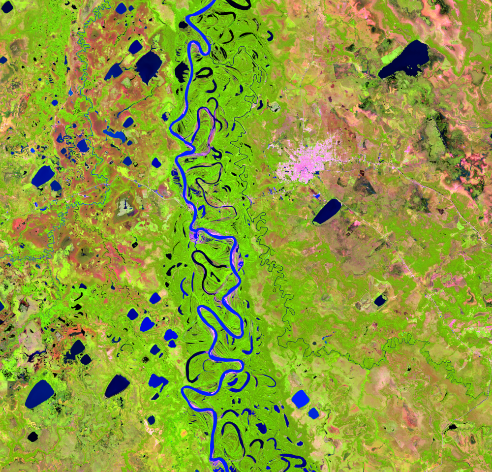 July 11, 2019, Landsat 8 (path/row 232/70) — Mamoré River, Bolivia