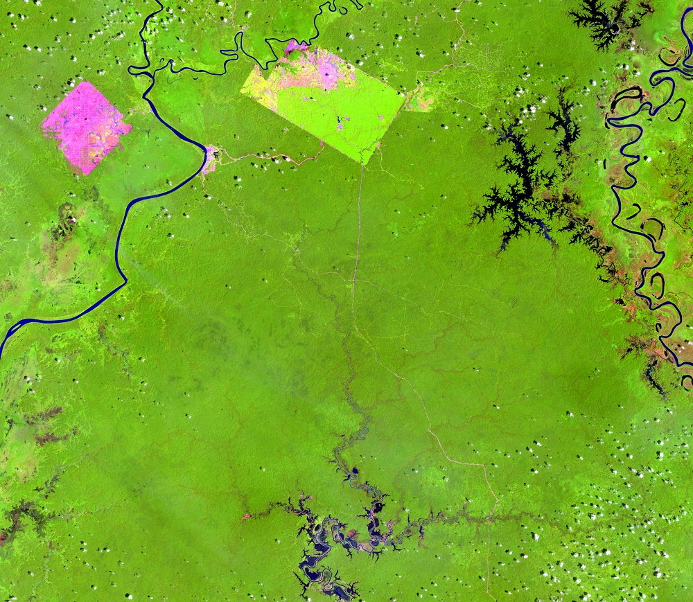 Jan. 19, 2007, Landsat 5 (path/row 100/65) — Papua, Indonesia