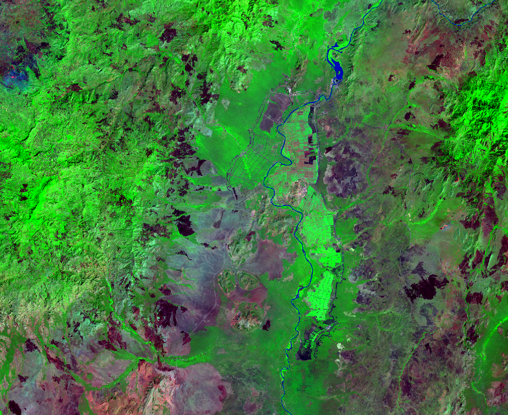 Jan. 8, 2017, Landsat 8 (path/row 170/56) — Sugar plantations, lower Omo River Valley, Ethiopia