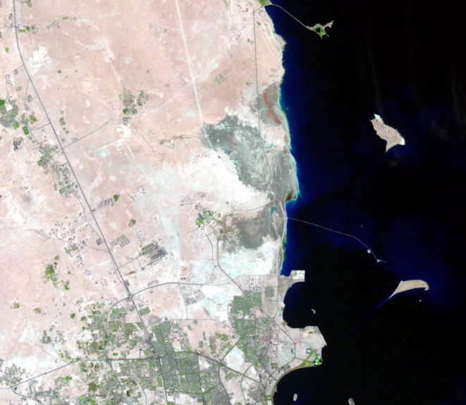Nov. 2, 1992, Landsat 5 (path/row 163/42) — The Pearl-Qatar, Doha, Qatar