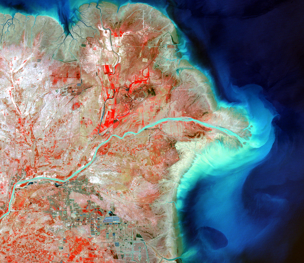 June 7, 1984, Landsat 2 (path/row 121/34) — Huang He Delta, China