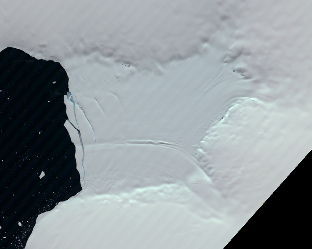 Jan. 27, 1990, Landsat 4 (path/row 221/110) — Verdi Ice Shelf, Antarctica