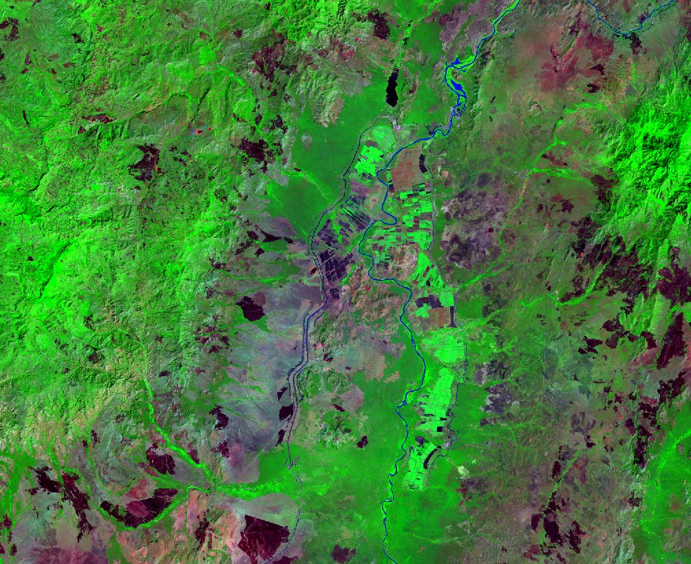 Jan. 14, 2019, Landsat 8 (path/row 170/56) — Sugar plantations, lower Omo River Valley, Ethiopia