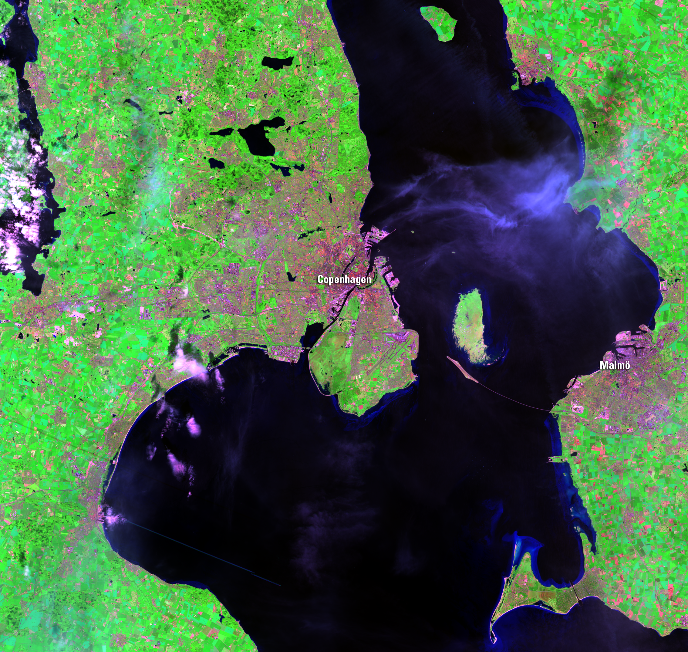 June 17, 2014, Landsat 8 (path/row 194/21) — Copenhagen, Denmark