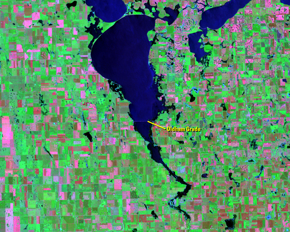 June 29, 1994, Landsat 5 (path/row 30/29) — Lake Thompson, South Dakota, USA