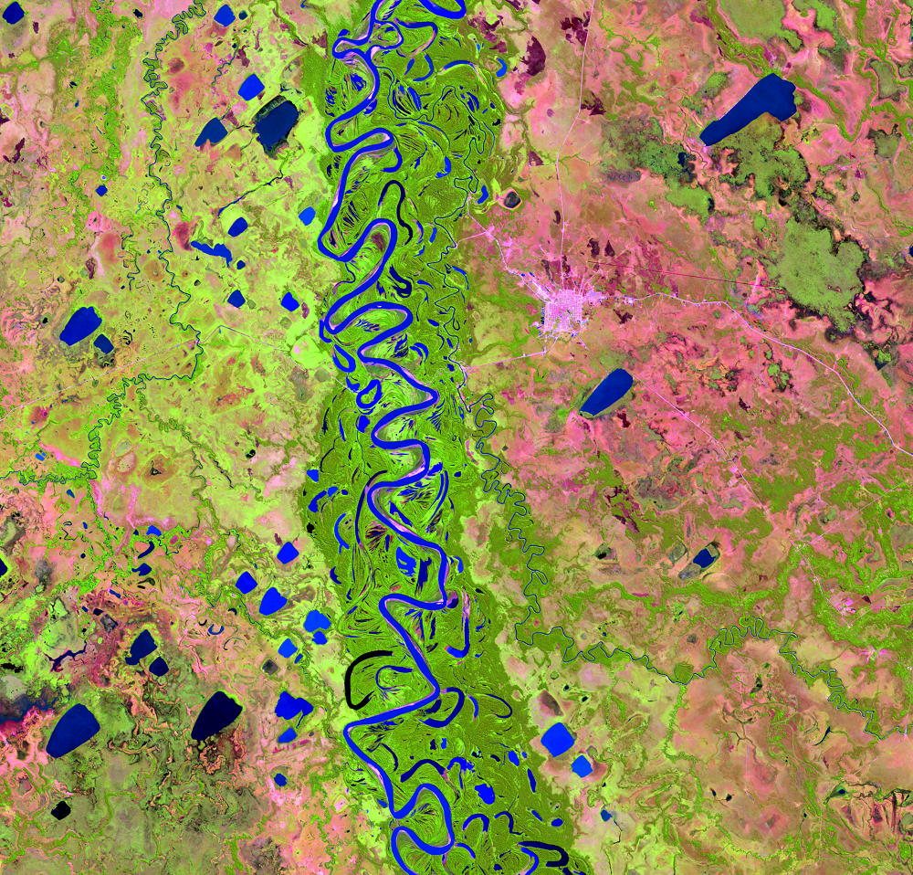 July 8, 1989, Landsat 5 (path/row 232/70) — Mamoré River, Bolivia