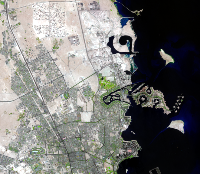 Sep. 12, 2014, Landsat 8 (path/row 163/42) — The Pearl-Qatar, Doha, Qatar