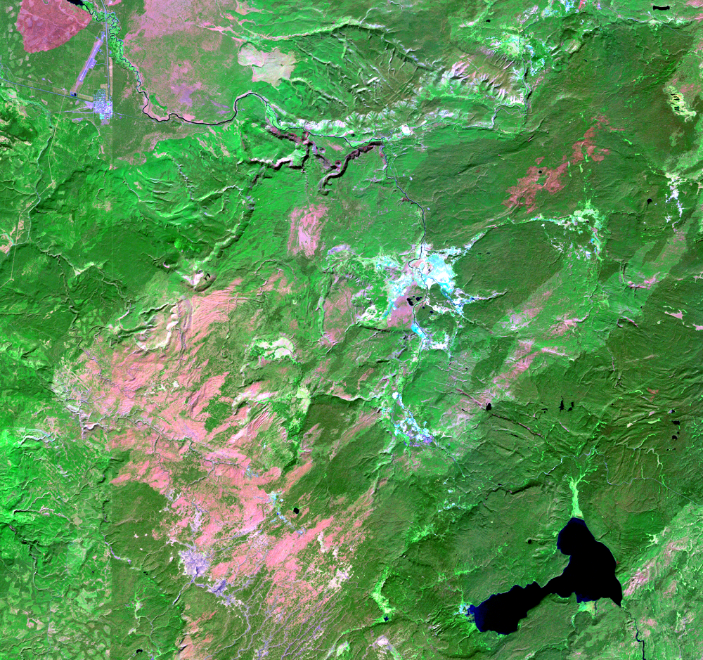 Sep. 24, 2011, Landsat 5 (path/row 38/29) — Location of Old Faithful at Yellowstone National Park, USA