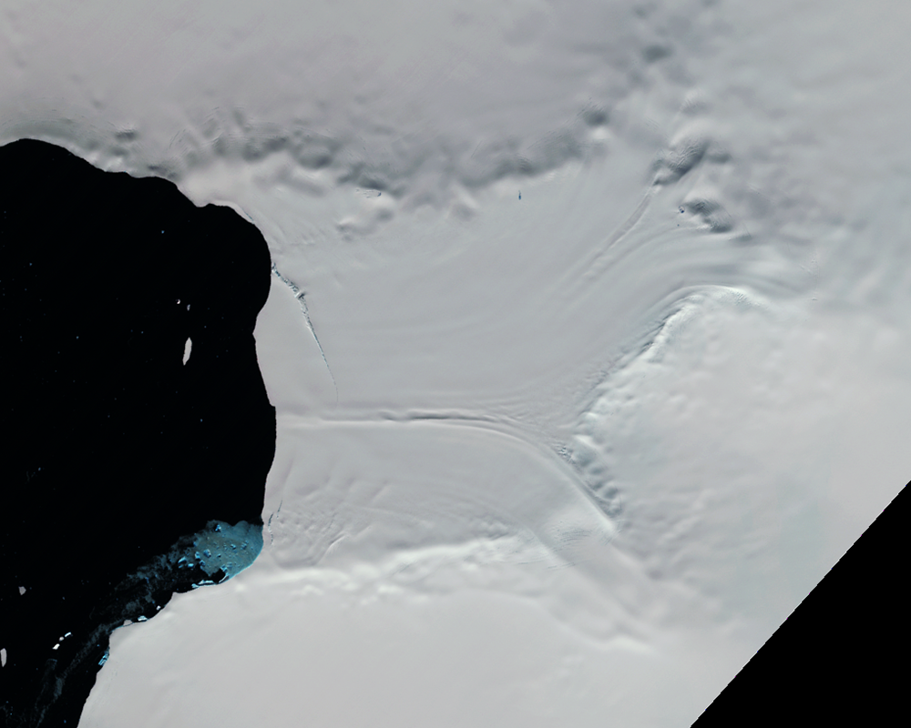Feb. 7, 1997, Landsat 5 (path/row 221/110) — Verdi Ice Shelf, Antarctica