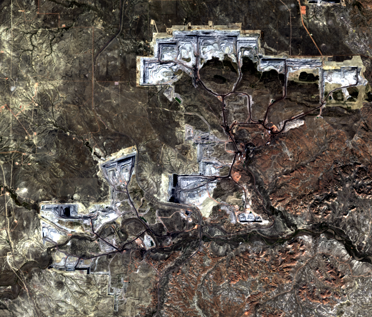 Sep. 20, 2014, Landsat 8 (path/row 34/30) — North Antelope Rochelle Complex Mines, Wyoming, USA
