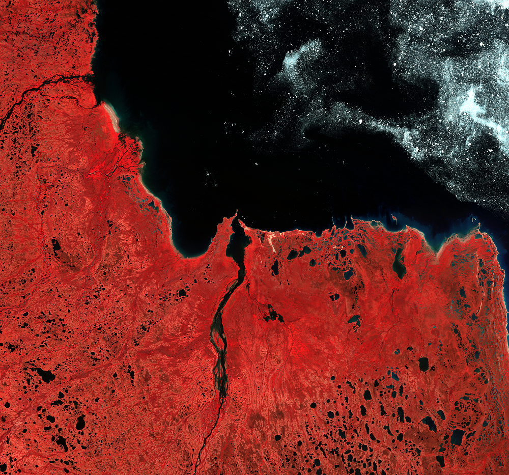 July 18, 1996, Landsat 5 (path/row 32/19) — Knife River Delta, Canada