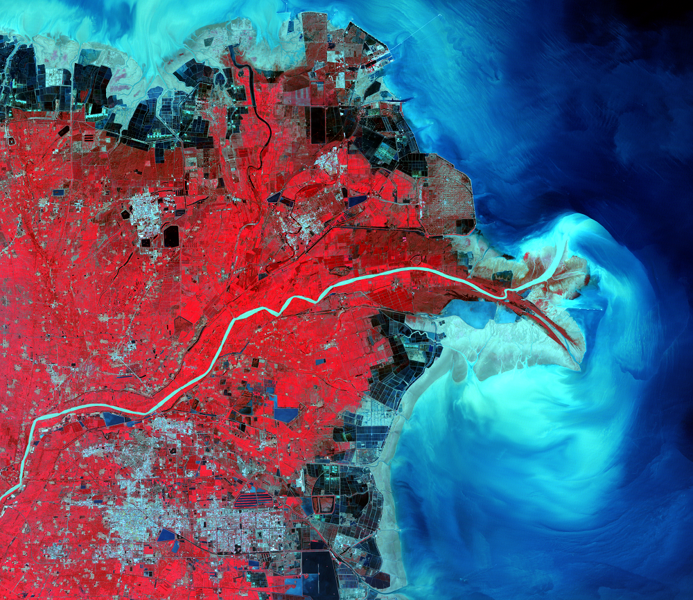 Sept. 11, 2010, Landsat 5 (path/row 121/34) — Huang He Delta, China