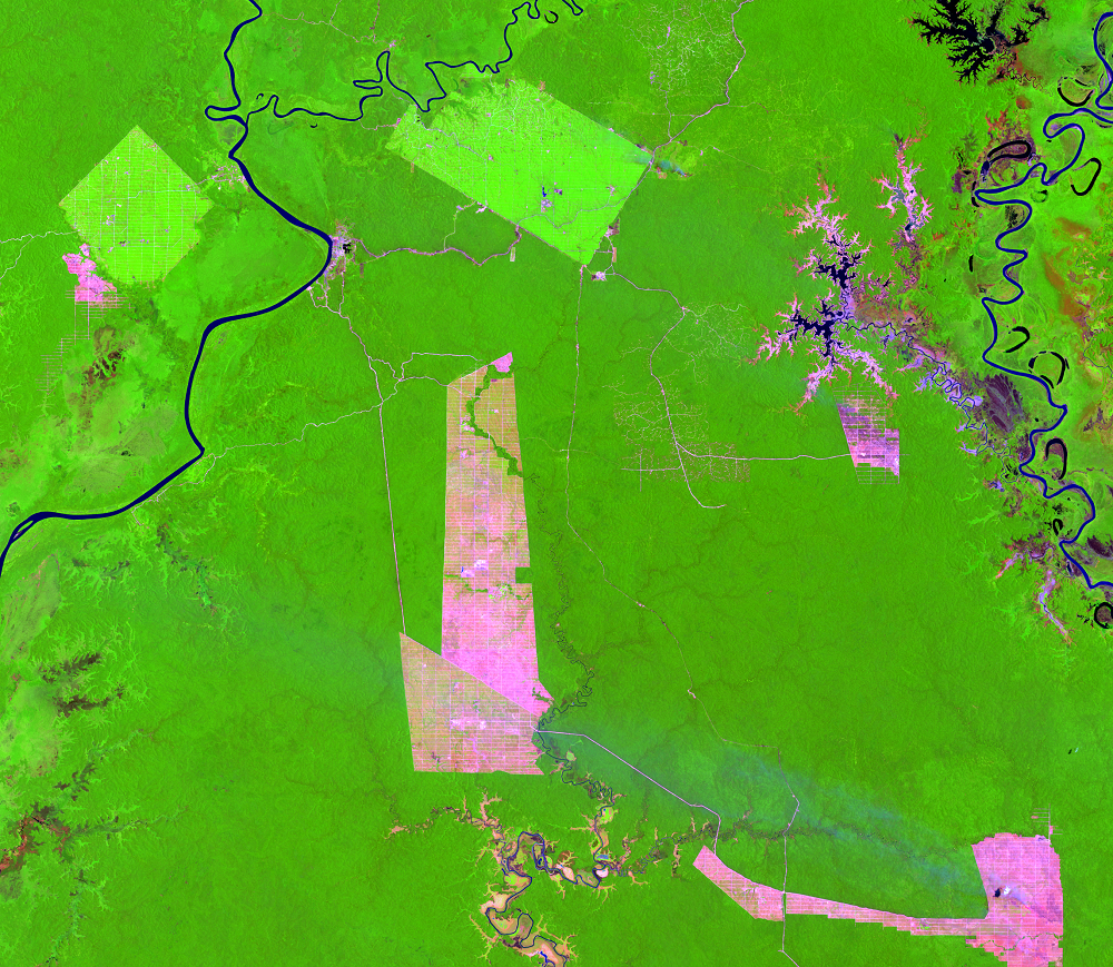 Sep. 22, 2015, Landsat 8 (path/row 100/65) — Papua, Indonesia
