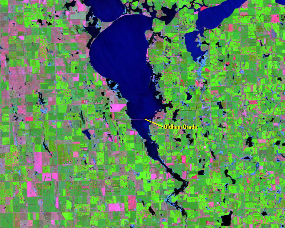 Aug. 24, 2011, Landsat 5 (path/row 29/29) — Lake Thompson, South Dakota, USA