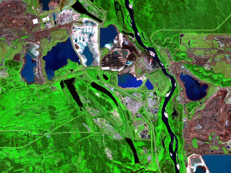 Sep. 20, 2011, Landsat 5 (path/row 42/20) — mining and reclamation, Athabasca Oil Sands, Alberta, Canada