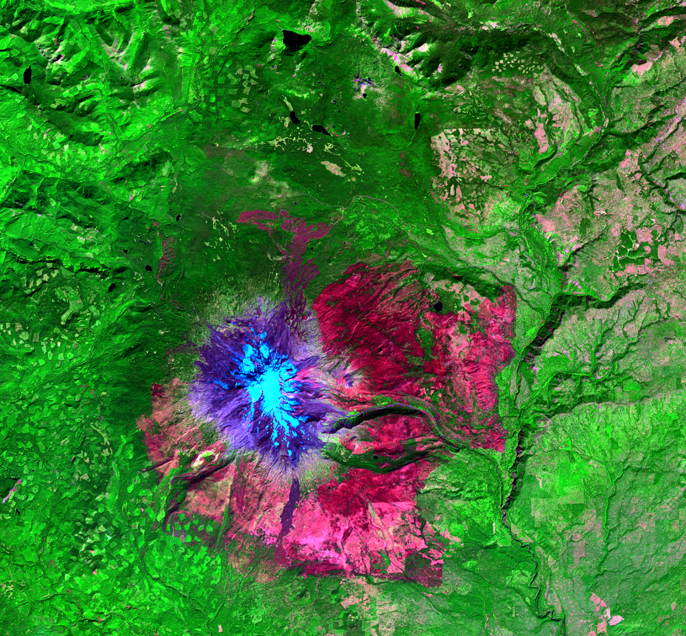 Sep. 11, 2015, Landsat 8 (path/row 46/28) — Cougar Creek Fire, Mount Adams, WA, USA