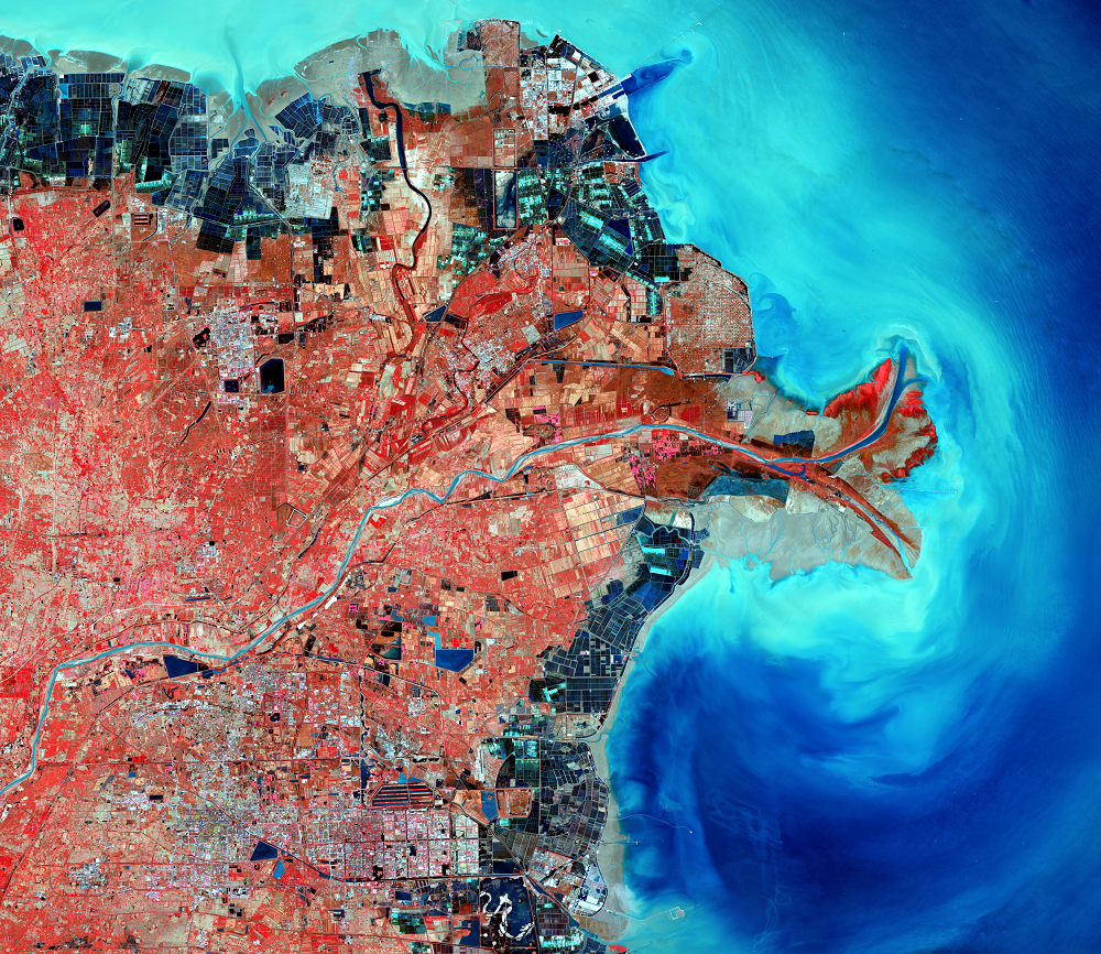 Oct. 27, 2015, Landsat 8 (path/row 121/34) — Huang He Delta, China