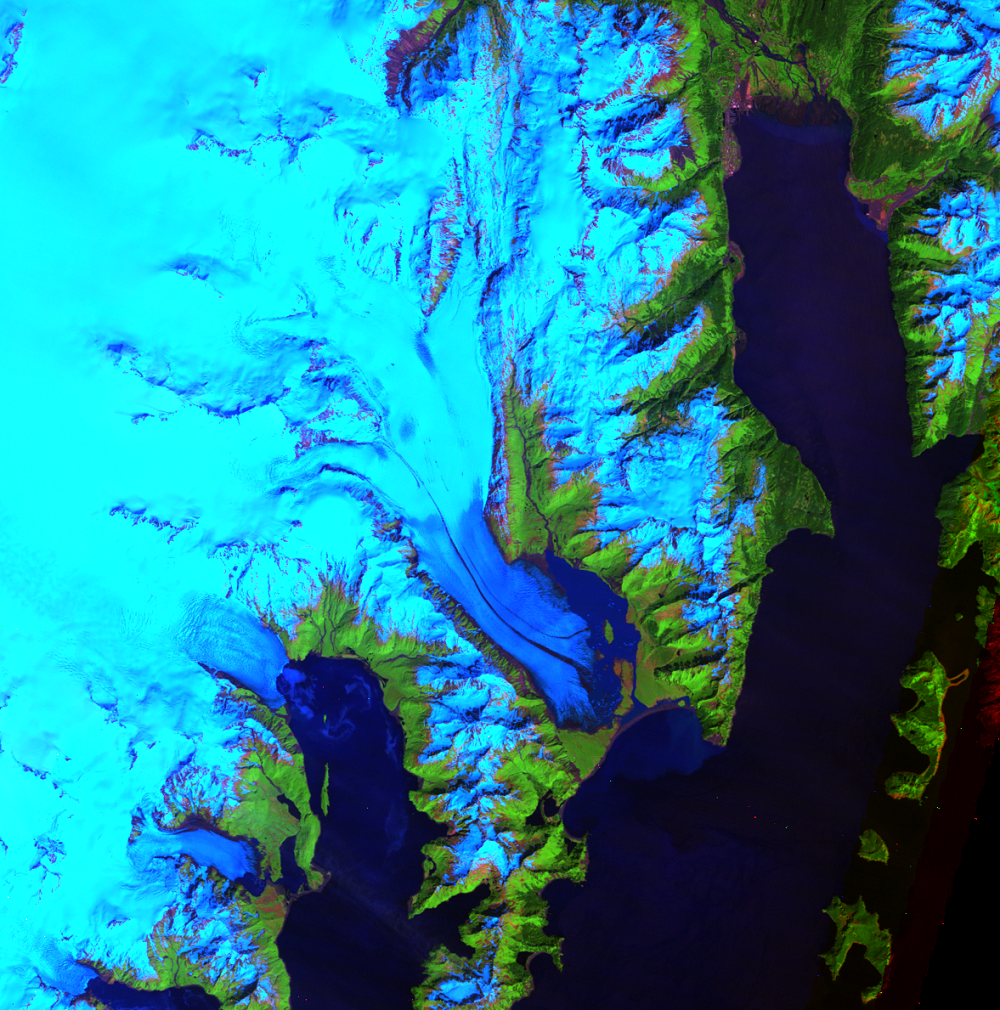 June 18, 1984, Landsat 5 (path/row 69/18) — Bear Glacier, Alaska, USA