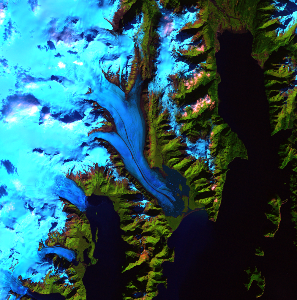 Sep. 27, 1994, Landsat 5 (path/row 68/18) — Bear Glacier, Alaska, USA