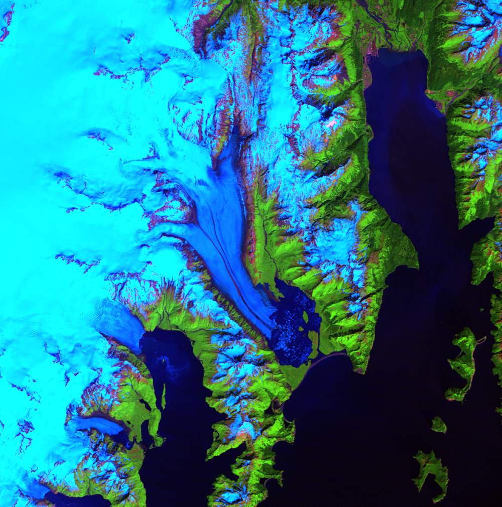 June 21, 2005, Landsat 5 (path/row 68/18) — Bear Glacier, Alaska, USA
