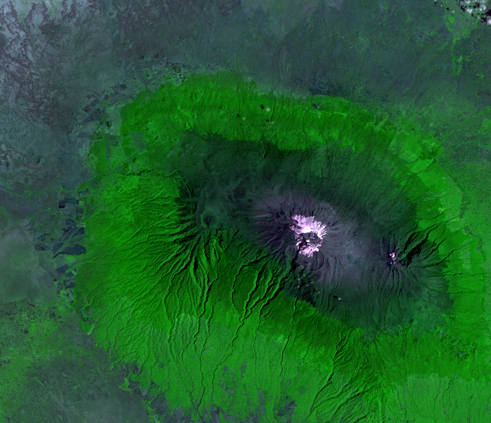 Jan. 24, 1976, Landsat 2 (path/row 180/62) — Mount Kilimanjaro, Tanzania