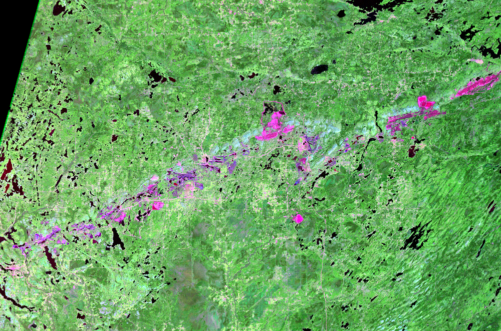 Sep. 26, 1974, Landsat 1 (path/row 29/27) — Mesabi Range, Minnesota, USA