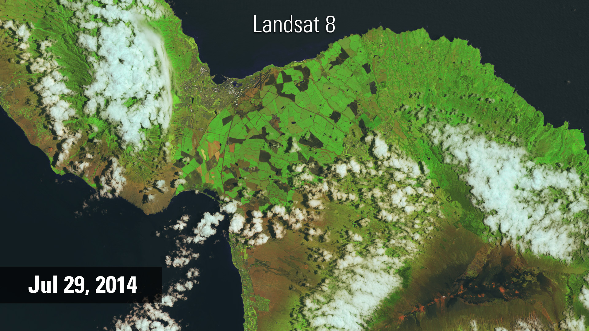 Landsat 8 image of Maui, July 2014