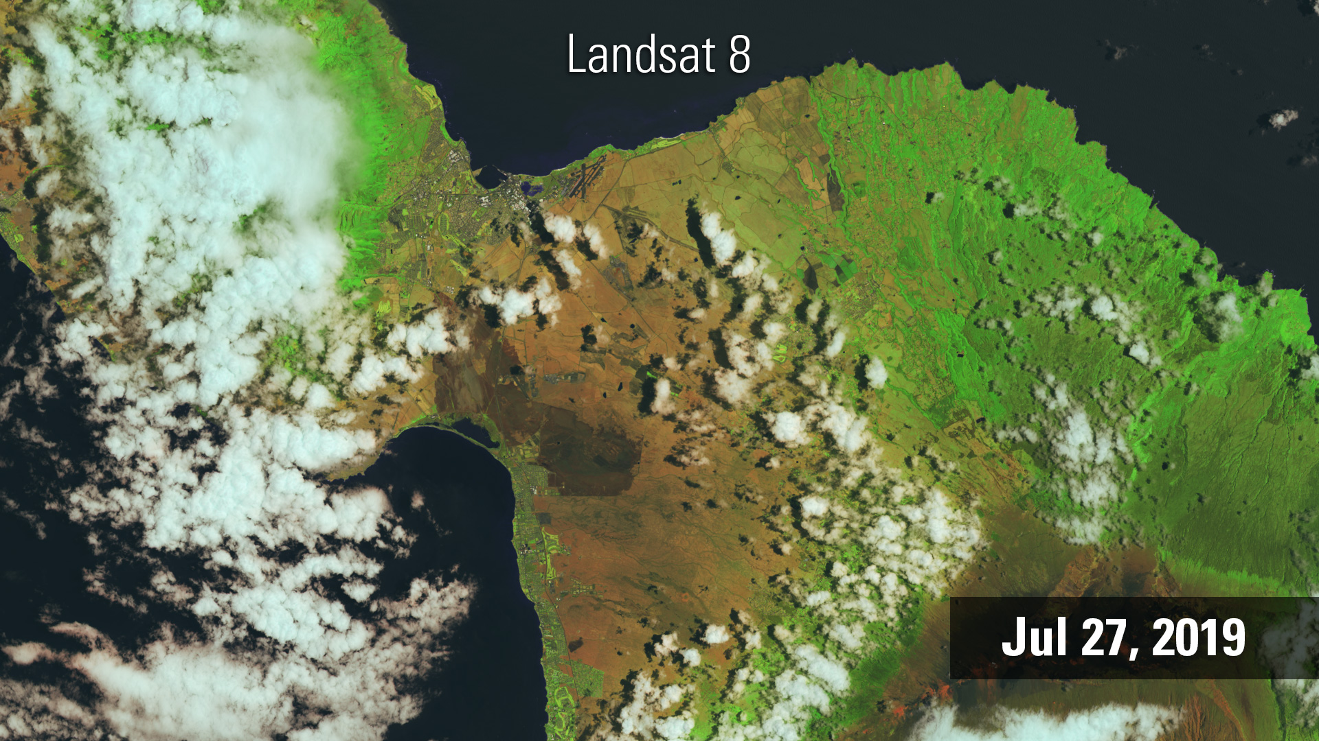 Landsat 8 image of Maui, July 2019