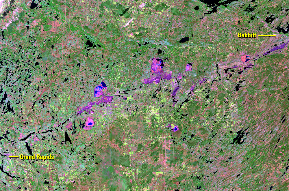 Oct. 5, 2020, Landsat 8 (path/row 27/27) — Mesabi Range, Minnesota, USA