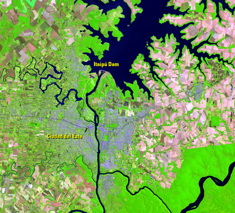 Sept. 23, 2020, Landsat 8 (path/row 224/78) — Itaipú Dam, South America