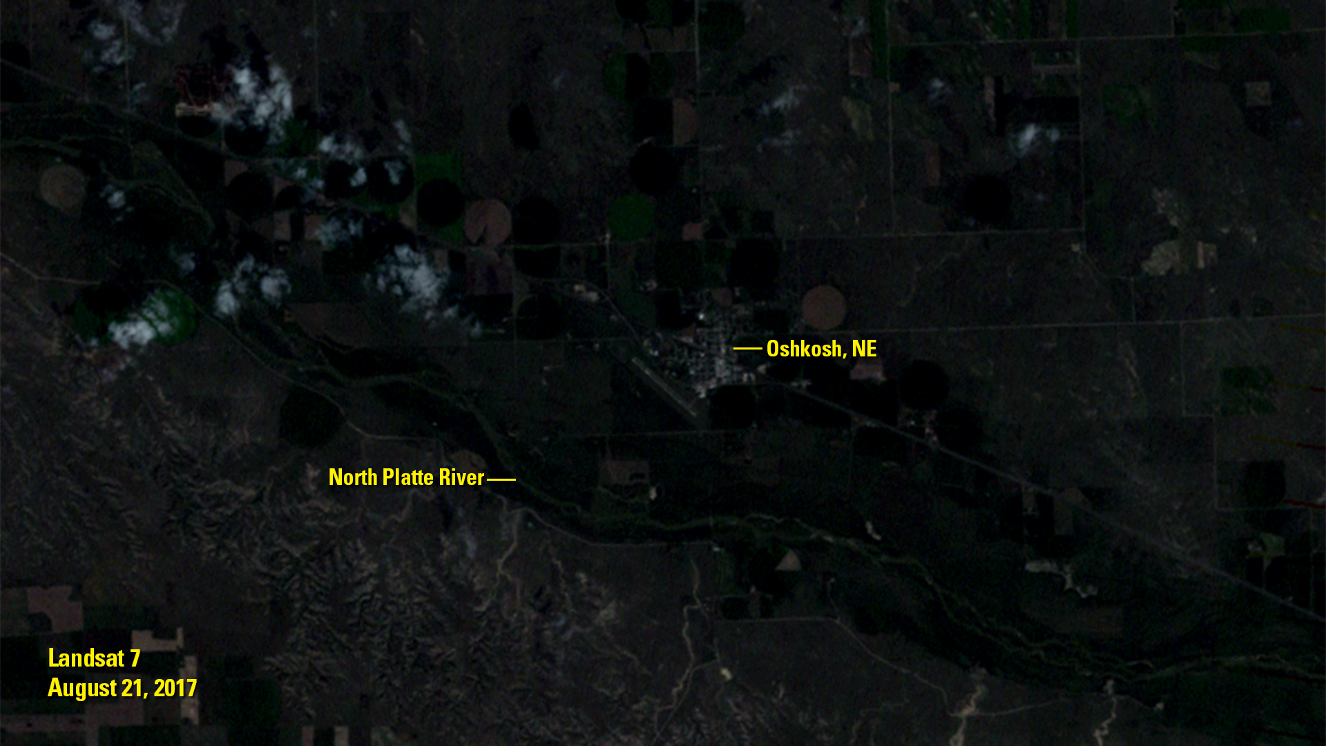 An image of Oshkosh, Nebraska from Aug. 18, 2016