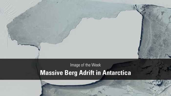 Thumbnail for Image of the Week - Massive Berg Adrift in Antarctica