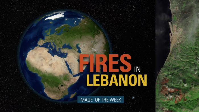 Thumbnail for Image of the Week - Fires in Lebanon