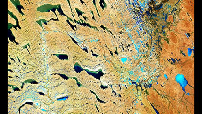 Most of this image is in the Simpson Desert Regional Reserve of South Australia.