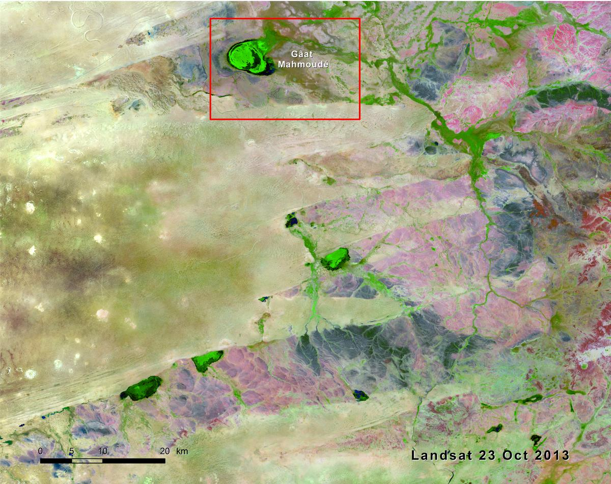 Dynamics Of Ephemeral Wetlands In Eastern Mauritania West Africa - Mauritania map download
