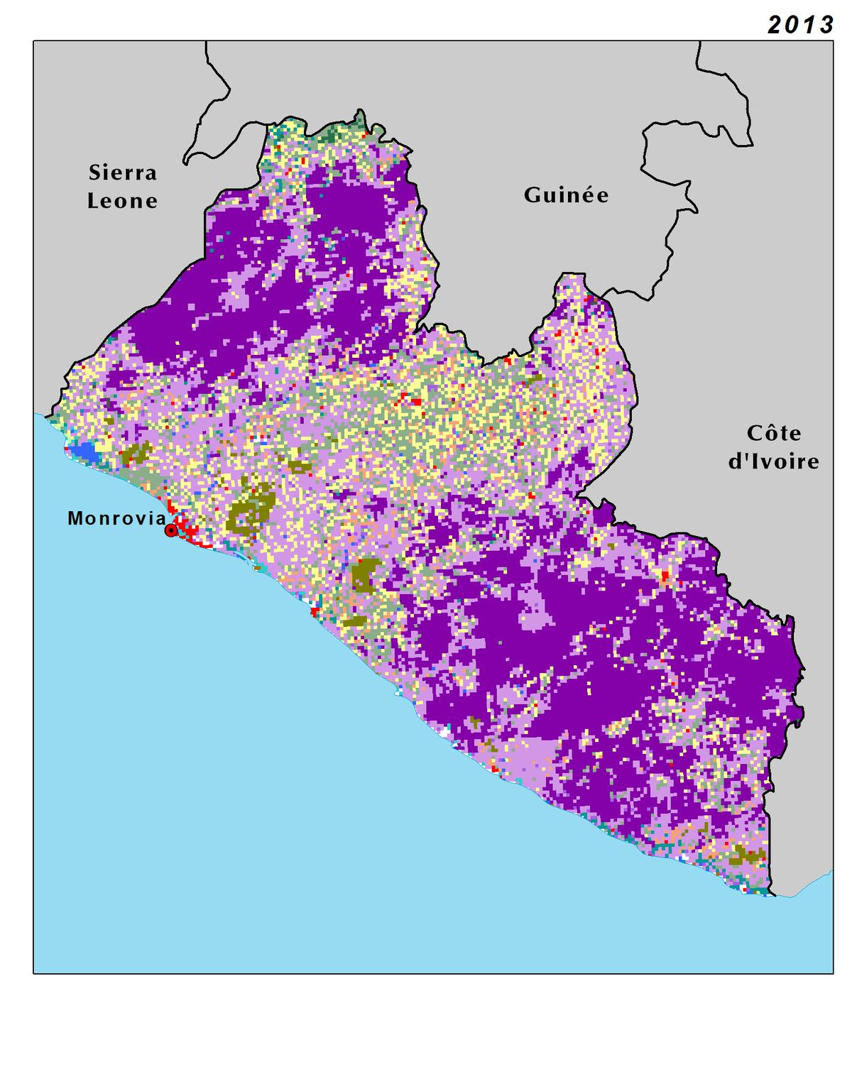 Land Use, Land Cover, and Trends in Liberia | West Africa