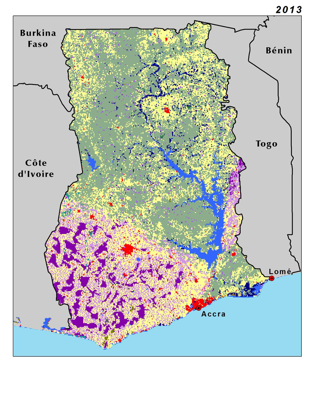 Land Use Land Cover and Trends in Ghana West Africa
