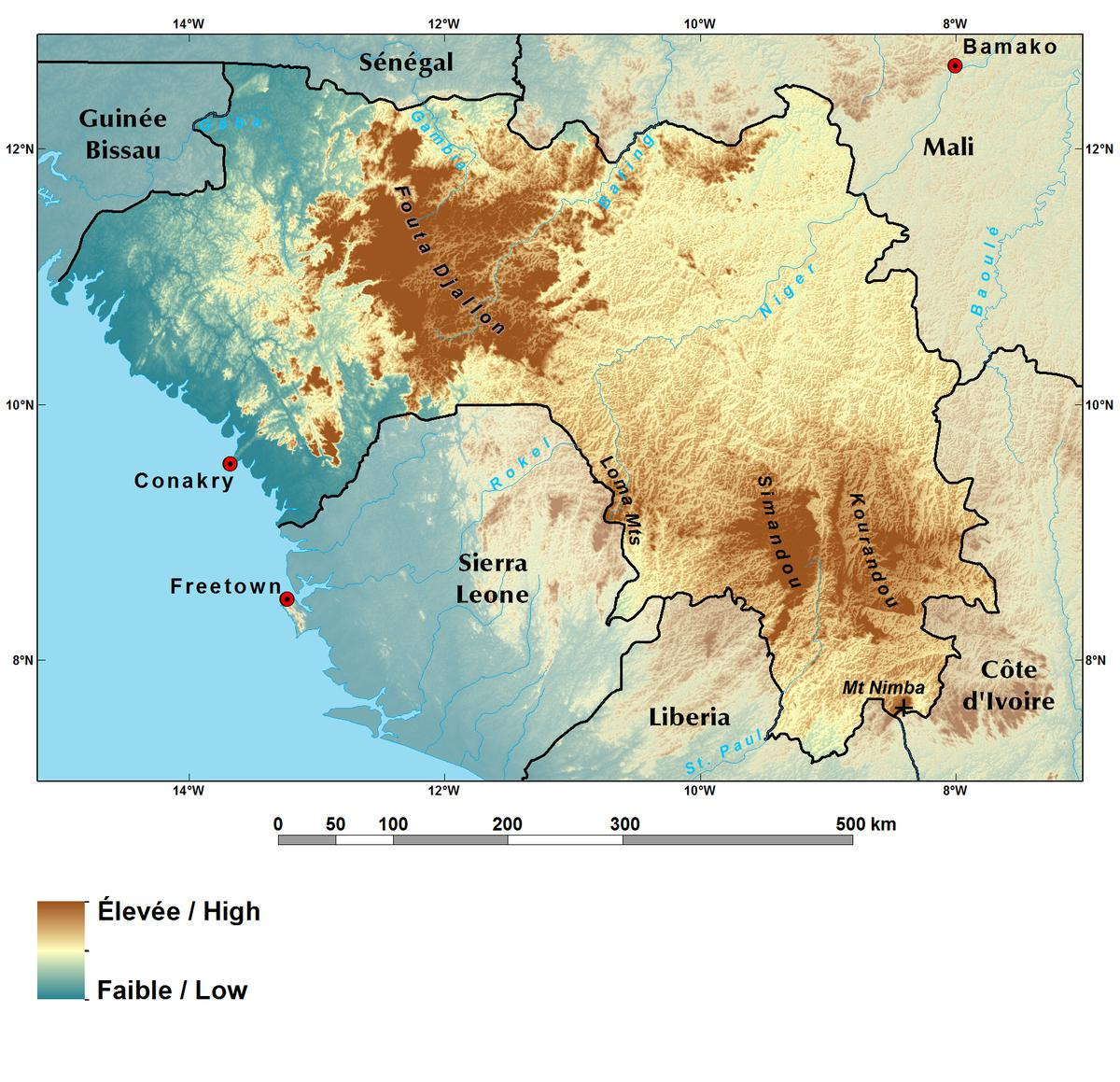 Ecoregions and Topography of Guinea | West Africa