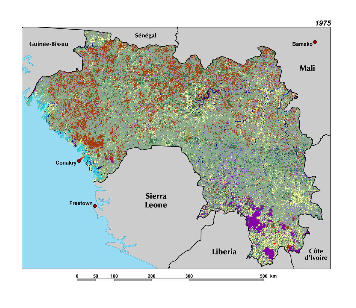The republic of guinea west africa land use land cover and trends in guinea publicscrutiny Image collections