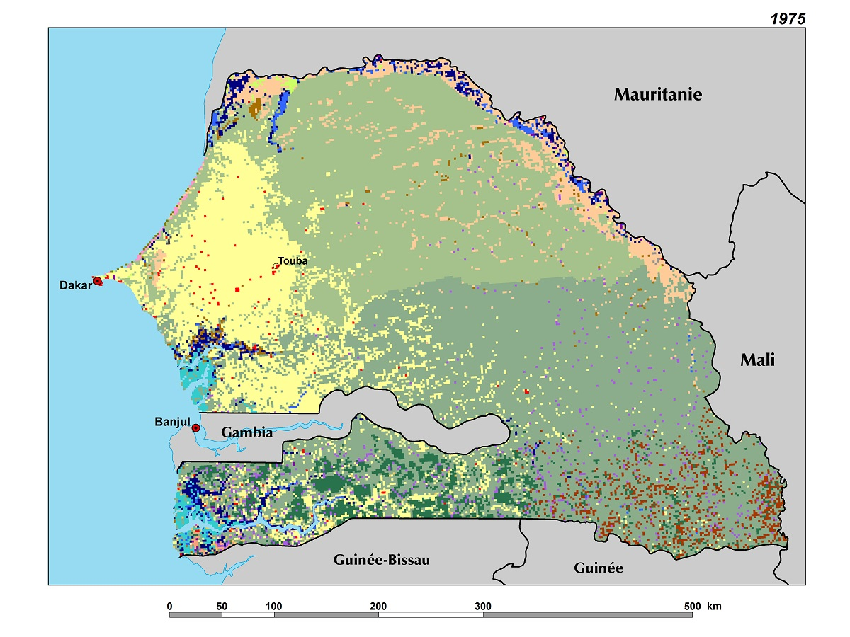 Map Of Africa Senegal.Land Use Land Cover And Trends In Senegal West Africa