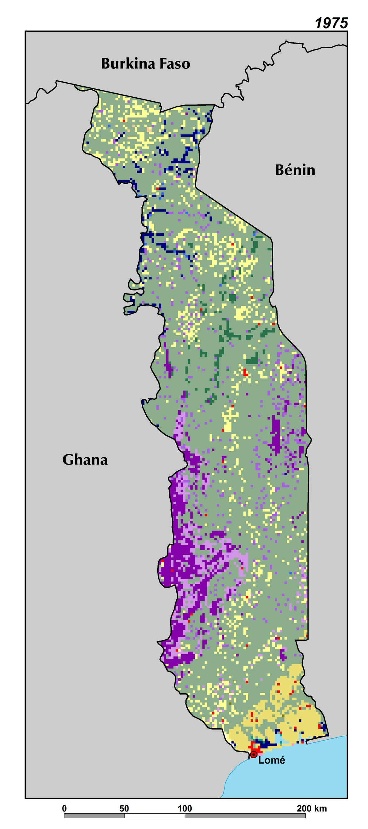 Land Use Land Cover And Trends In Togo West Africa - Togo map